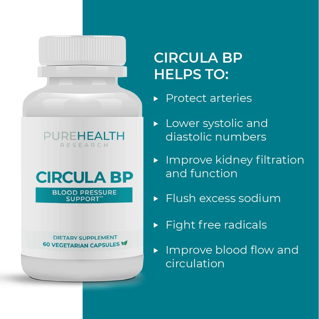 Circula BP by PureHealth Research Reviews 2020 – A Blood Pressure Support Supplement